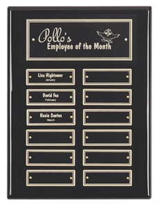 High Gloss Black Finish Plaque 300x230 mm