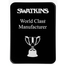 Black Gloss Finish Plaque